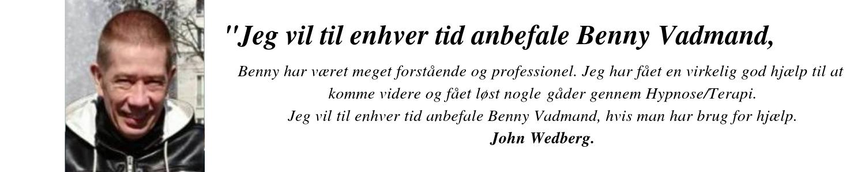 København Hypnose udtalelse John