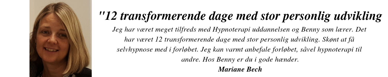 Hypnose uddannelse Mariane